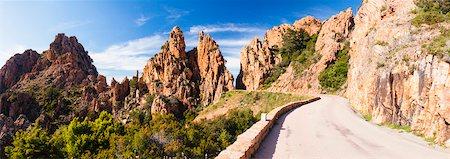 Narrow Road, Calanques de Piana, Corsica, France Stock Photo - Rights-Managed, Code: 700-06531531