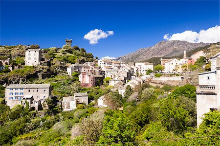 Village of Nonza with its famous watchtower, Cap Corse, Corsica, France Stock Photo - Rights-Managed, Code: 700-06531546