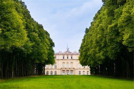 View of New Herrenworth Palace through Trees at Herrenchiemsee, Herreninsel, Chiemsee, Oberbayern, Bavaria, Germany Stock Photo - Rights-Managed, Code: 700-06531646