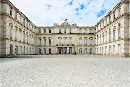 View of Courtyard of New Herrenworth Palace, Herrenchiemsee, Herreninsel, Chiemsee, Oberbayern, Bavaria, Germany Stock Photo - Rights-Managed, Code: 700-06531647