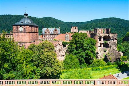 Heidelberg Castle Ruins, Heidelberg, Baden-Wurttemberg, Germany Stock Photo - Rights-Managed, Code: 700-06531662