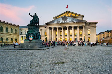 event - National Theatre at Max-Joseph-Platz in the Evening, Munich, Oberbayern, Bavaria, Germany Stock Photo - Rights-Managed, Code: 700-06531675