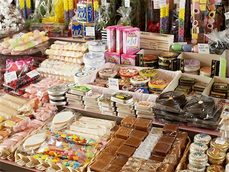 sweets - Assortment of candy and chocolates in shop, Le Chocolate par Michel Chaudun, Paris, France Stock Photo - Rights-Managed, Code: 700-06531931