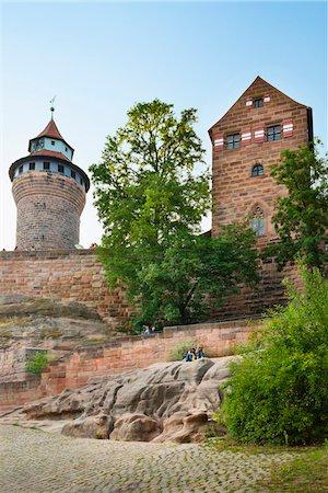 Nuremberg Imperial Castle of Kaiserburg, Nuremberg, Middle Franconia, Bavaria, Germany Stock Photo - Rights-Managed, Code: 700-06553335