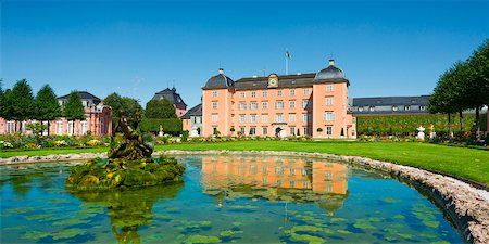 Pond on Grounds of Schwetzingen Castle, Baden-Wurttemberg, Germany Stock Photo - Rights-Managed, Code: 700-06553349