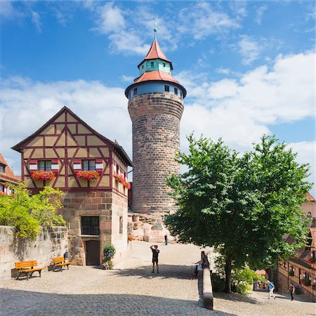 Tower at Nuremberg Imperial Castle Kaiserburg, Nuremberg, Middle Franconia, Bavaria, Germany Stock Photo - Rights-Managed, Code: 700-06553343