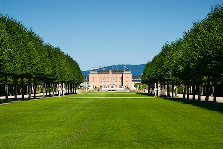 Long Grass Lawn at Schwetzingen Castle, Baden-Wurttemberg, Germany Stock Photo - Rights-Managed, Code: 700-06553351