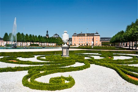 Landscaped Garden at Schwetzingen Castle, Baden-Wurttemberg, Germany Stock Photo - Rights-Managed, Code: 700-06553352