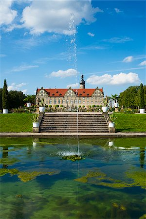 Water Fountain in front of Weikersheim Castle, Weikersheim, Baden-Wurttemberg, Germany Stock Photo - Rights-Managed, Code: 700-06553368