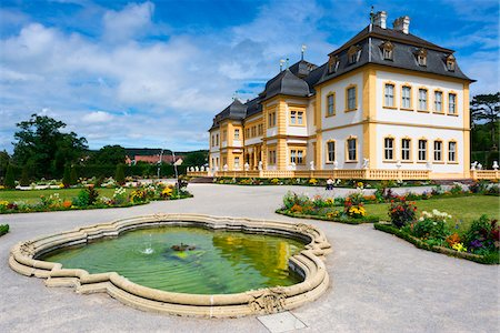 Water Fountain on Castle Grounds, Veitshochheim Castle, Wurzburg, Lower Franconia, Bavaria, Germany Stock Photo - Rights-Managed, Code: 700-06553360
