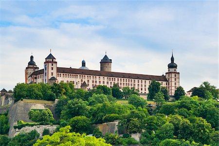 Germany, Bavaria, Lower Franconia, Wuerzburg, Marienberg Fortress Stock Photo - Rights-Managed, Code: 700-06553384
