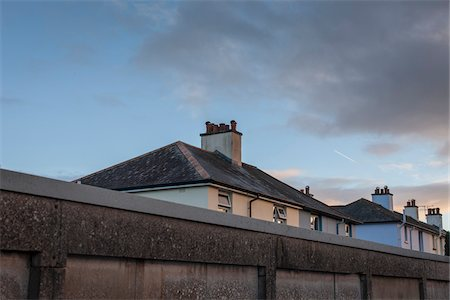 Roof tops of council houses, Totnes, South Hams, Devon, UK Stock Photo - Rights-Managed, Code: 700-06571132