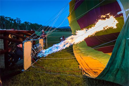 Inflating a hot air balloon near Pokolbin, Hunter Valley, New South Wales, Australia Stock Photo - Rights-Managed, Code: 700-06675118