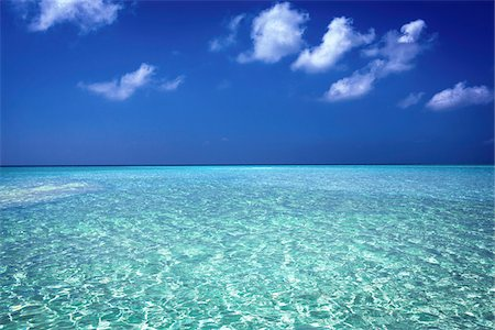 sky - Clear Turquoise Water of the Indian Ocean, Maldives Stock Photo - Rights-Managed, Code: 700-06685225