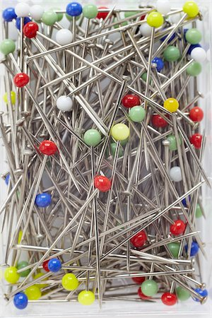 close-up of multi-colored pins Stock Photo - Rights-Managed, Code: 700-06701963