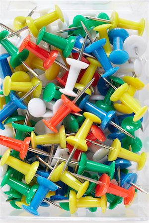 supply - close-up of multi-colored push pins Stock Photo - Rights-Managed, Code: 700-06714041