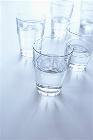 drinking water glass - still life of glasses of water Stock Photo - Rights-Managed, Code: 700-06714057
