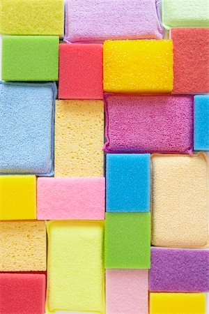 Still Life of Colorful Sponges of Different Sizes Stock Photo - Rights-Managed, Code: 700-06714074