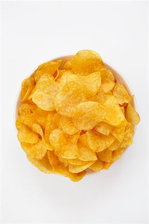 still life of potato chips in bowl Stock Photo - Rights-Managed, Code: 700-06714119