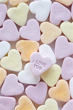 "still life of candy hearts with ""I love you"" Stock Photo - Rights-Managed, Code: 700-06714125"