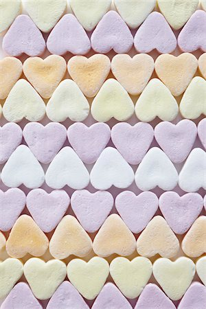 sugar - still life of candy hearts Stock Photo - Rights-Managed, Code: 700-06714127