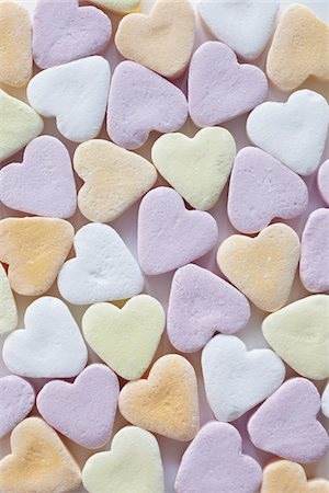 sugar - still life of candy hearts Stock Photo - Rights-Managed, Code: 700-06714123