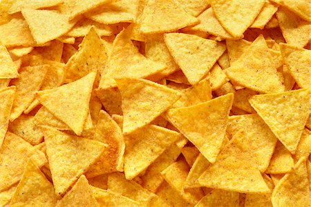 snack - Close-Up of tortilla chips (full frame) Stock Photo - Rights-Managed, Code: 700-06714133