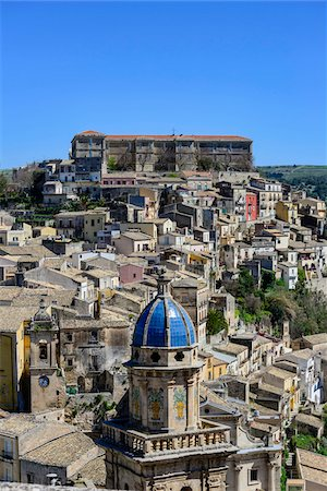 Italy, Sicily, Ragusa Ibla, view of the baroque town Stock Photo - Rights-Managed, Code: 700-06714162