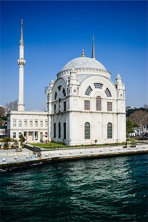 Turkey, Marmara, Istanbul, Dolmabahce Mosque by the Bosphorus Stock Photo - Rights-Managed, Code: 700-06732677