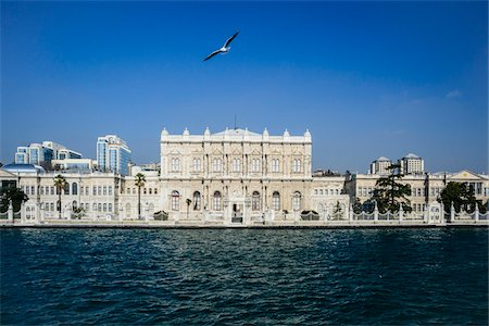 Turkey, Marmara, Istanbul, Dolmabahce Palace by the Bosphorus Stock Photo - Rights-Managed, Code: 700-06732679