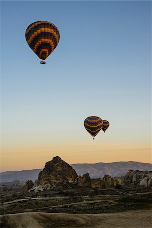 Turkey, Central Anatolia, Cappadocia, Goreme, Hot Air Balloon Tour Stock Photo - Rights-Managed, Code: 700-06732673