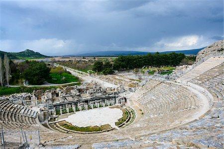 pillar - Turkey, Aegean Region, Ephesus, Roman Theatre Stock Photo - Rights-Managed, Code: 700-06732684