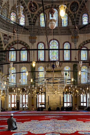 Turkey, Marmara, Istanbul, Interior of Fatih Mosque Stock Photo - Rights-Managed, Code: 700-06732687