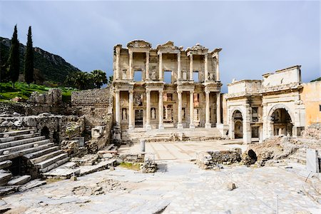 Turkey, Aegean Region, Ephesus, Celsus Library (Izmir Ili district) Stock Photo - Rights-Managed, Code: 700-06732682