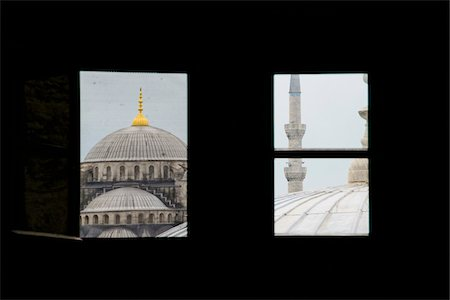 Turkey, Marmara, Istanbul, Blue Mosque, Sultan Ahmed Mosque, View Through Windows Stock Photo - Rights-Managed, Code: 700-06732766