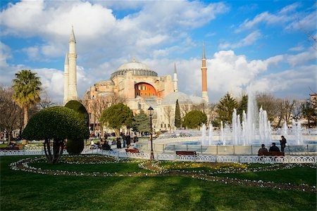 Turkey, Marmara, Istanbul, Sultanahmet Park, Hagia Sophia, Ayasofya Stock Photo - Rights-Managed, Code: 700-06732769