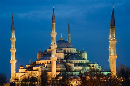 Turkey, Marmara, Istanbul, Blue Mosque, Sultan Ahmed Mosque at Dusk Stock Photo - Rights-Managed, Code: 700-06732770