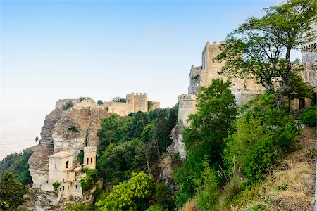 Italy, Sicily, Trapani district, Erice, Balio Towers and Norman Castle, Castello di Venere and Torretta di Pepoli Stock Photo - Rights-Managed, Code: 700-06752309