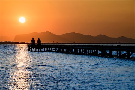 summer - Italy, Sicily, Trapani district, Marsala, Stagnone Nature Reserve at sunset, Favignana island in the background Stock Photo - Rights-Managed, Code: 700-06752312