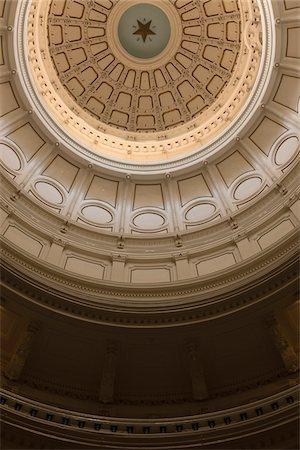 View of the ceiling inside the Rotunda of the Texas state capitol building, Austin, Texas, USA Stock Photo - Rights-Managed, Code: 700-06773304