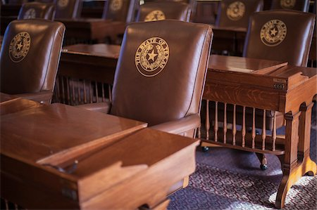 View inside the house of representatives of the Texas state capitol building, Austin, Texas, USA Stock Photo - Rights-Managed, Code: 700-06773306