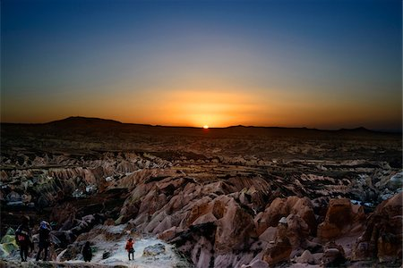 rugged landscape - Turkey, Central Anatolia, Cappadocia, Sunset over Rock Formations Stock Photo - Rights-Managed, Code: 700-06773865