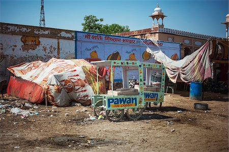 Ice Cream Cart in street of Deshnoke, India Stock Photo - Rights-Managed, Code: 700-06786709