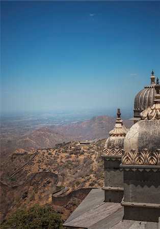 decorative - View from Kumbhalgarh Fort towers, Rajsmand District, Rajasthan, India Stock Photo - Rights-Managed, Code: 700-06782179