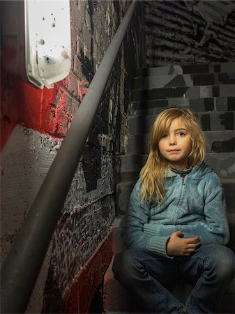 Young girl in stairwell of Palais de Tokyo, Paris, France Stock Photo - Rights-Managed, Code: 700-06808774