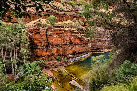 rugged landscape - Dales Gorge, Karijini National Park, The Pilbara, Western Australia, Australia Stock Photo - Rights-Managed, Code: 700-06809053