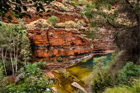 rugged landscape - Dales Gorge, Karijini National Park, The Pilbara, Western Australia, Australia Stock Photo - Rights-Managed, Code: 700-06809053