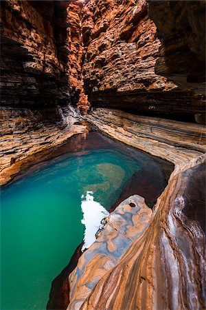 Kermits Pool, Hancock Gorge, Karijini National Park, The Pilbara, Western Australia, Australia Stock Photo - Rights-Managed, Code: 700-06841545