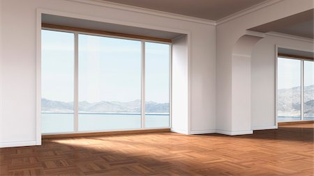 empty - 3d-illustration of an empty apartment Photographie de stock - Rights-Managed, Code: 700-06841590