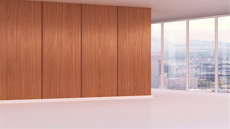 floor - 3d-illustration of an empty office in urban area Stock Photo - Rights-Managed, Code: 700-06841592